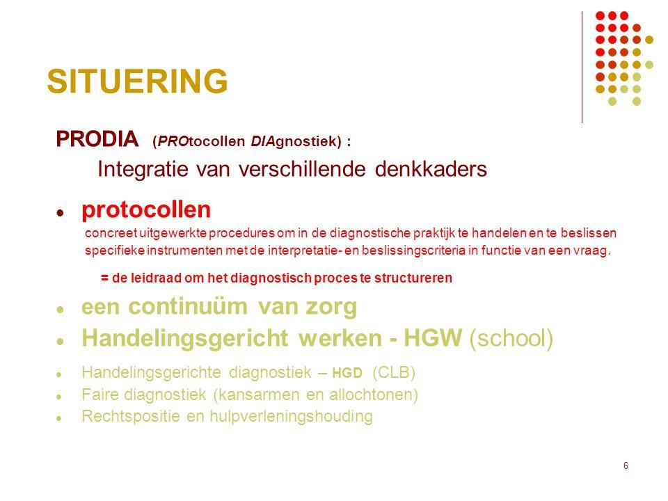 SITUERING protocollen Handelingsgericht werken - HGW (school)