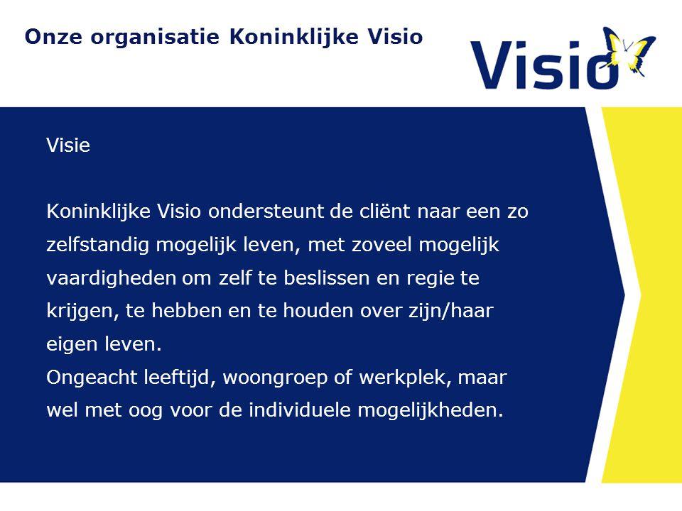 Onze organisatie Koninklijke Visio