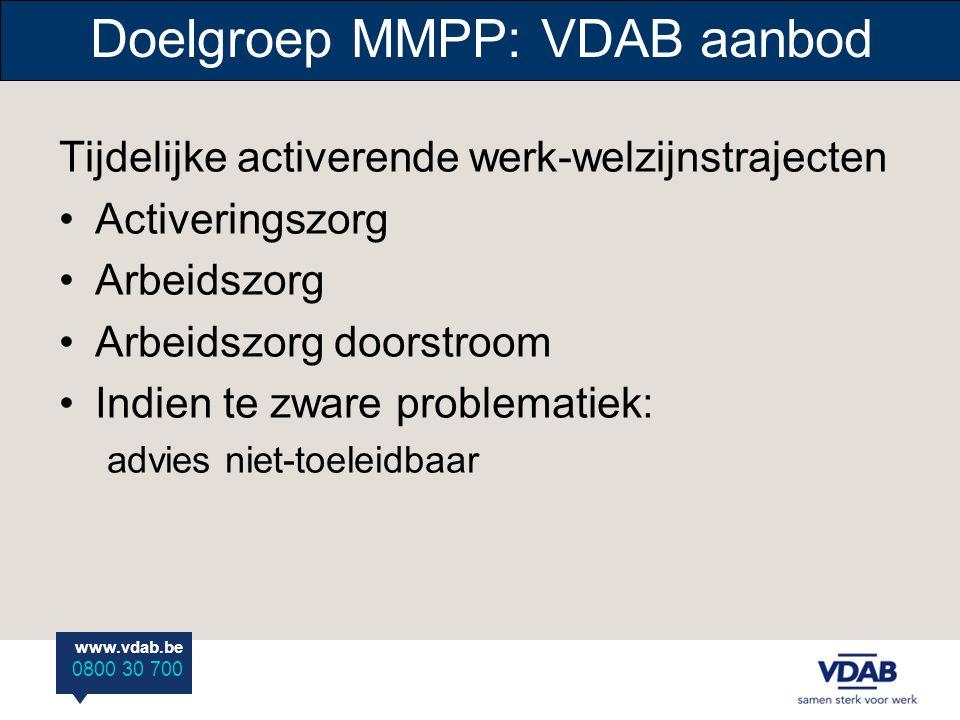 Doelgroep MMPP: VDAB aanbod
