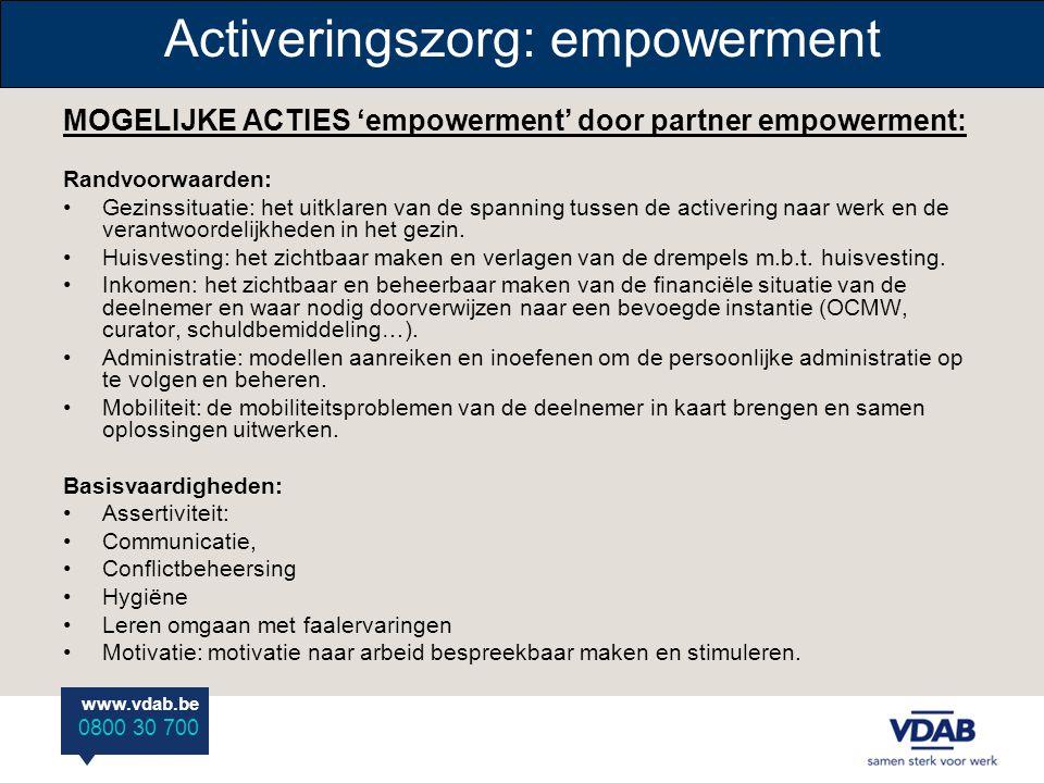 Activeringszorg: empowerment