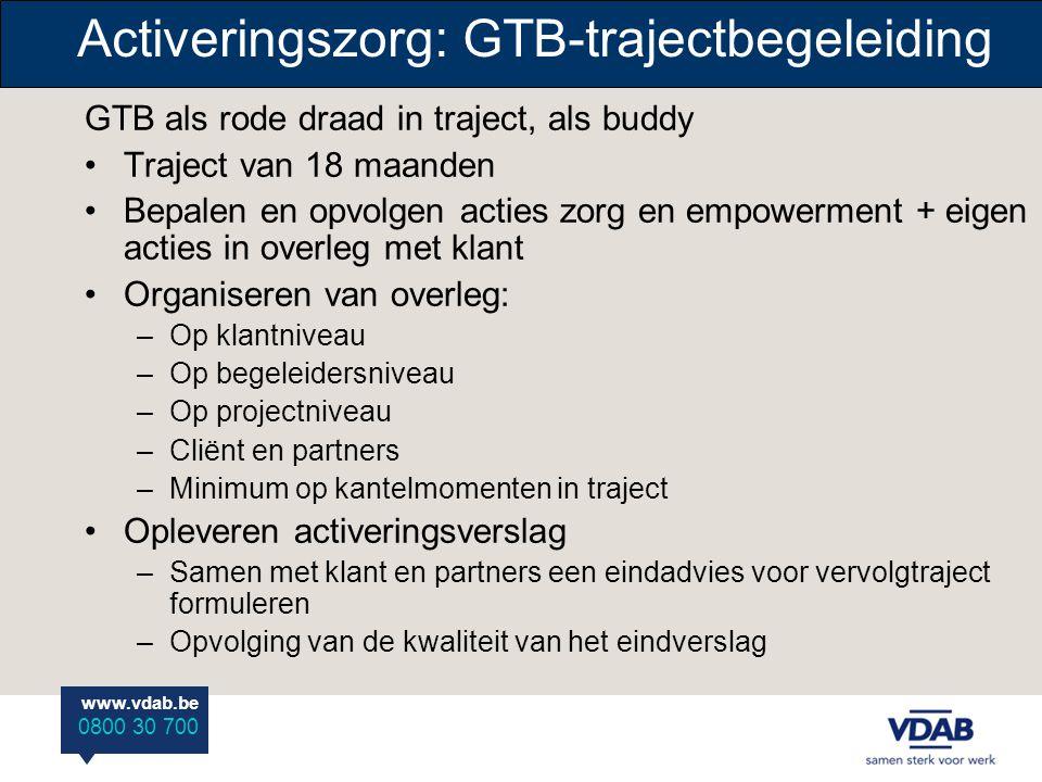 Activeringszorg: GTB-trajectbegeleiding