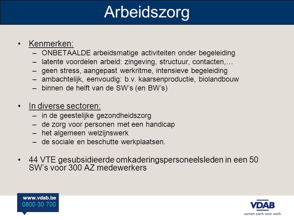 Arbeidszorg Kenmerken: In diverse sectoren: