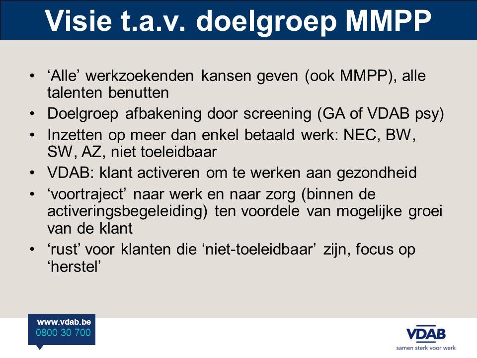 Visie t.a.v. doelgroep MMPP