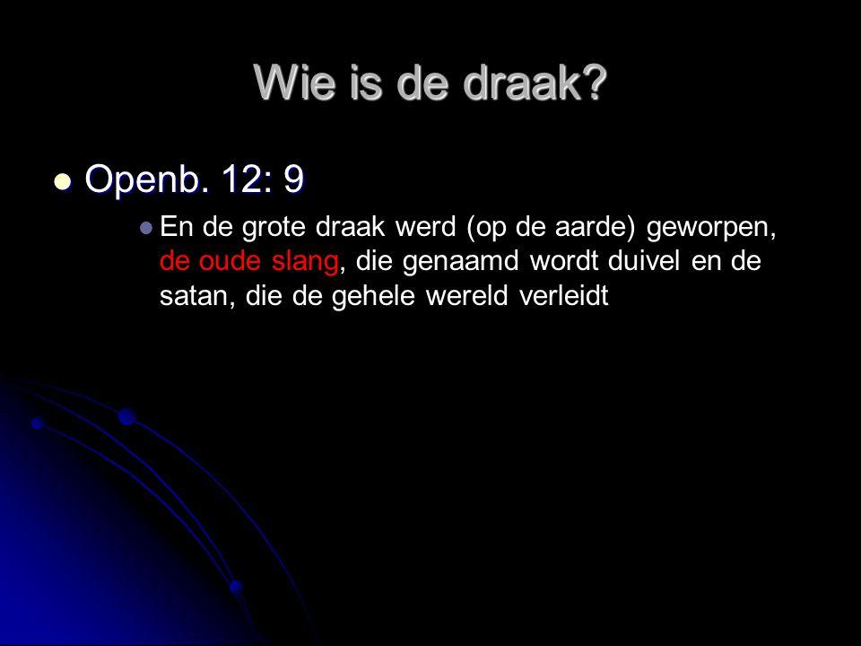 Wie is de draak Openb. 12: 9.