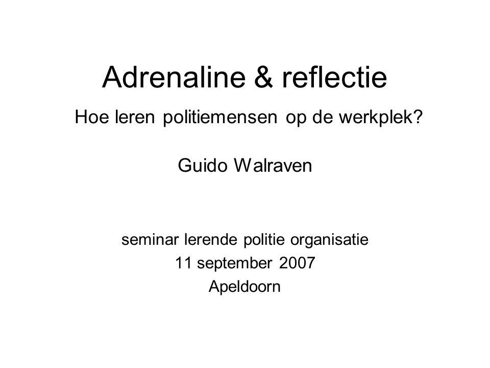 seminar lerende politie organisatie 11 september 2007 Apeldoorn