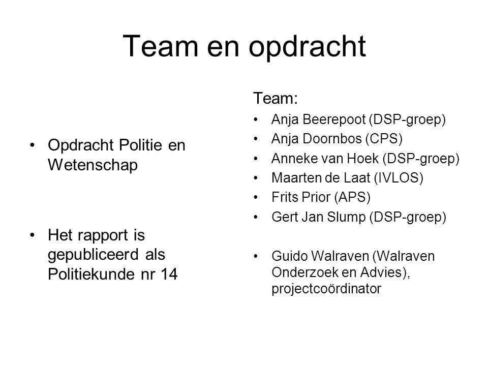 Team en opdracht Team: Opdracht Politie en Wetenschap