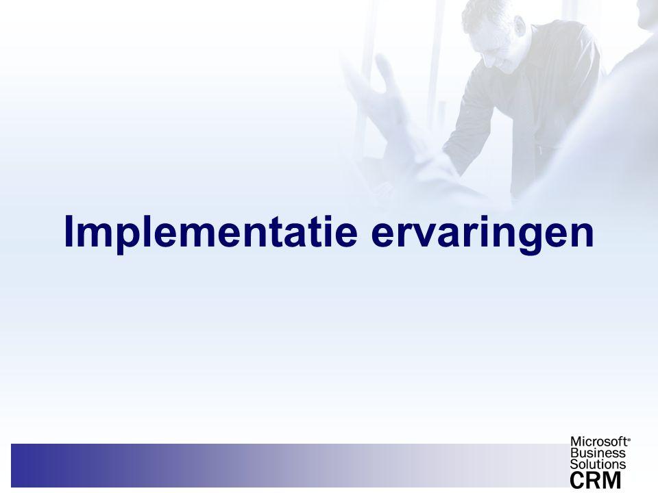 Implementatie ervaringen