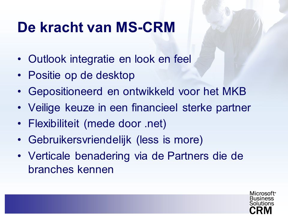 De kracht van MS-CRM Outlook integratie en look en feel