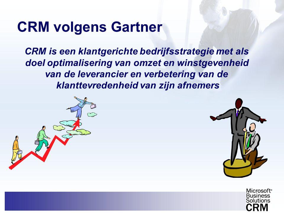 CRM volgens Gartner CRM is een klantgerichte bedrijfsstrategie met als