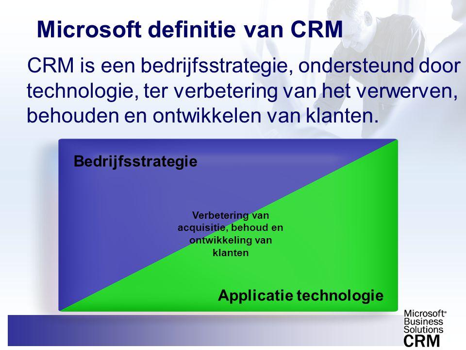 Microsoft definitie van CRM