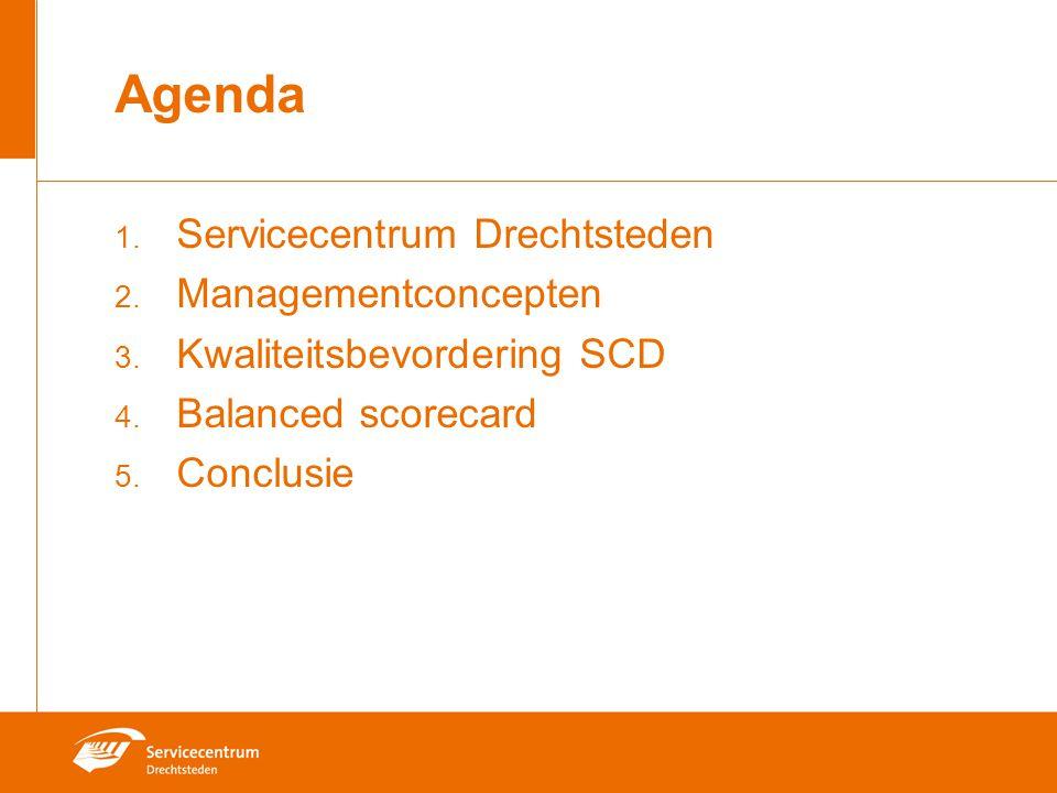 Agenda Servicecentrum Drechtsteden Managementconcepten