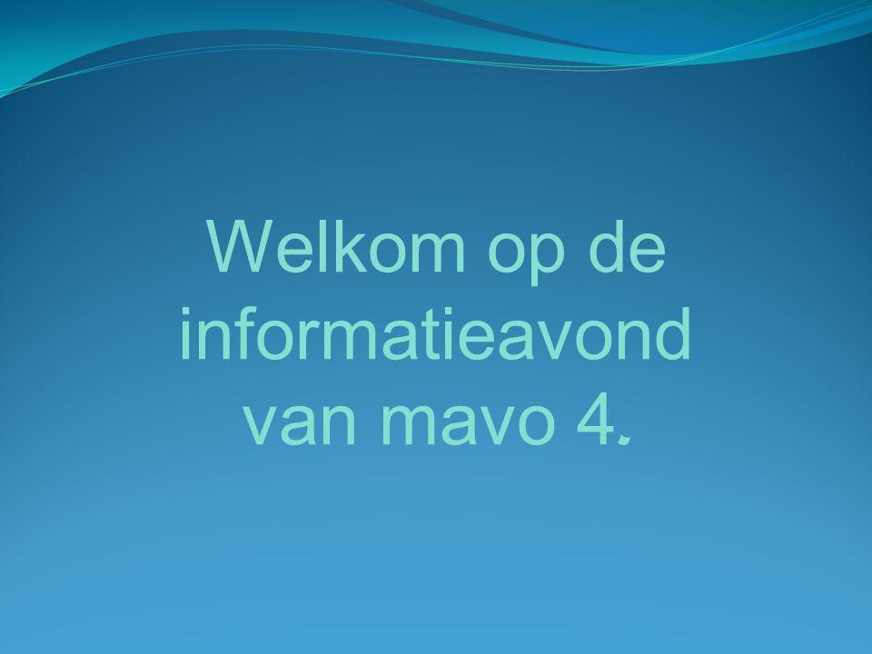 Welkom op de informatieavond