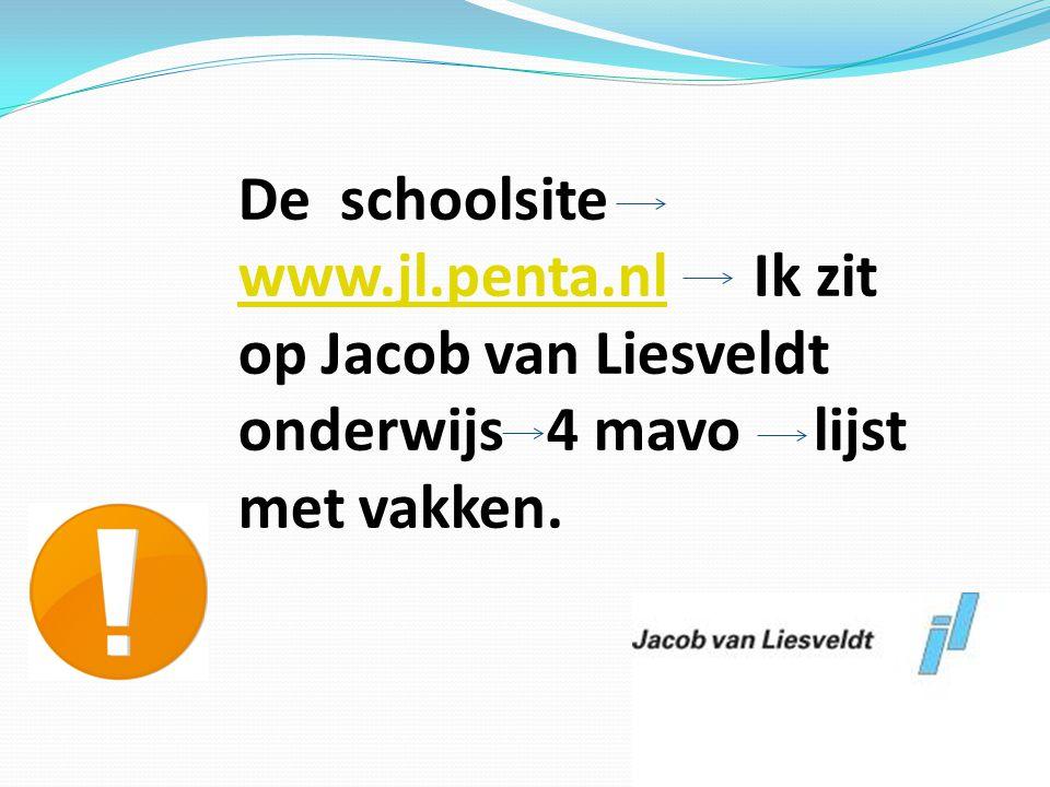 De schoolsite www. jl. penta