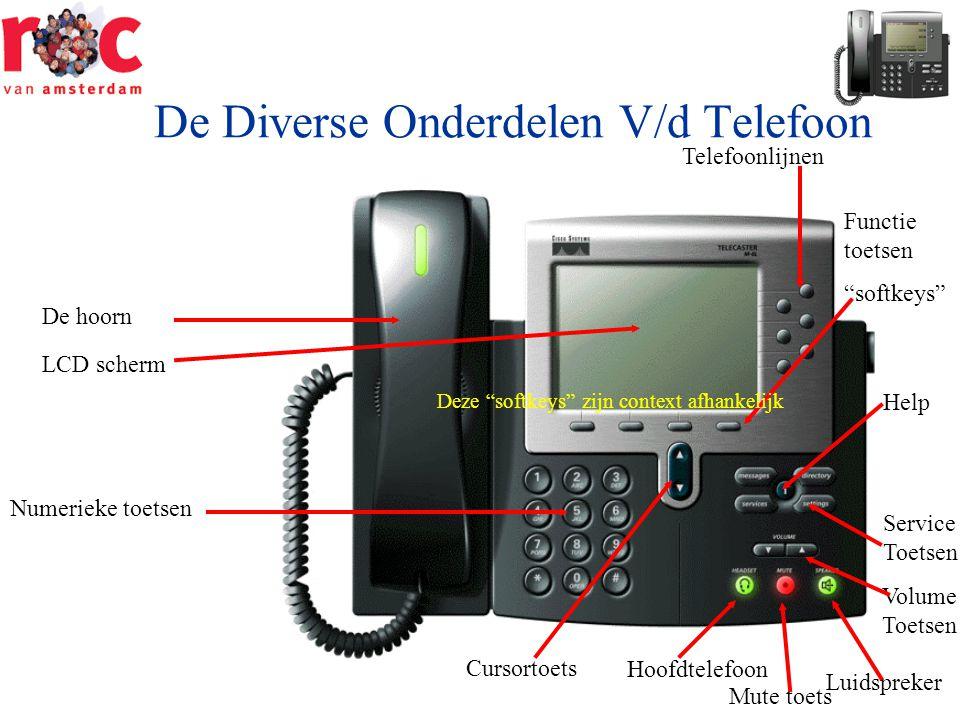 De Diverse Onderdelen V/d Telefoon