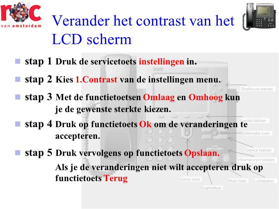 Verander het contrast van het LCD scherm