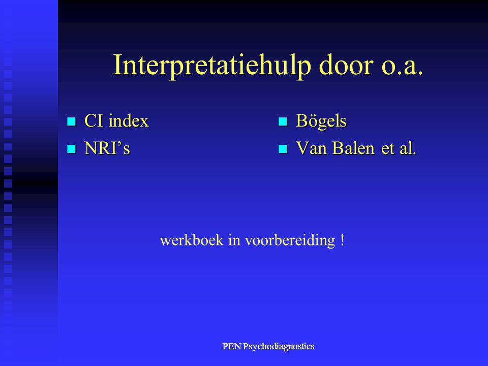 Interpretatiehulp door o.a.