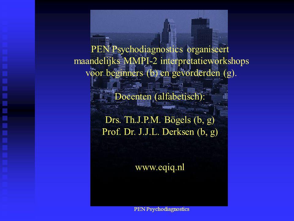 PEN Psychodiagnostics organiseert
