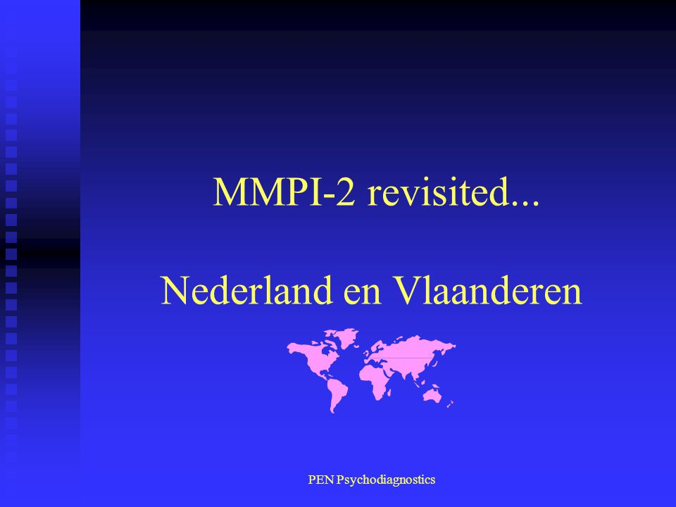 MMPI-2 revisited... Nederland en Vlaanderen