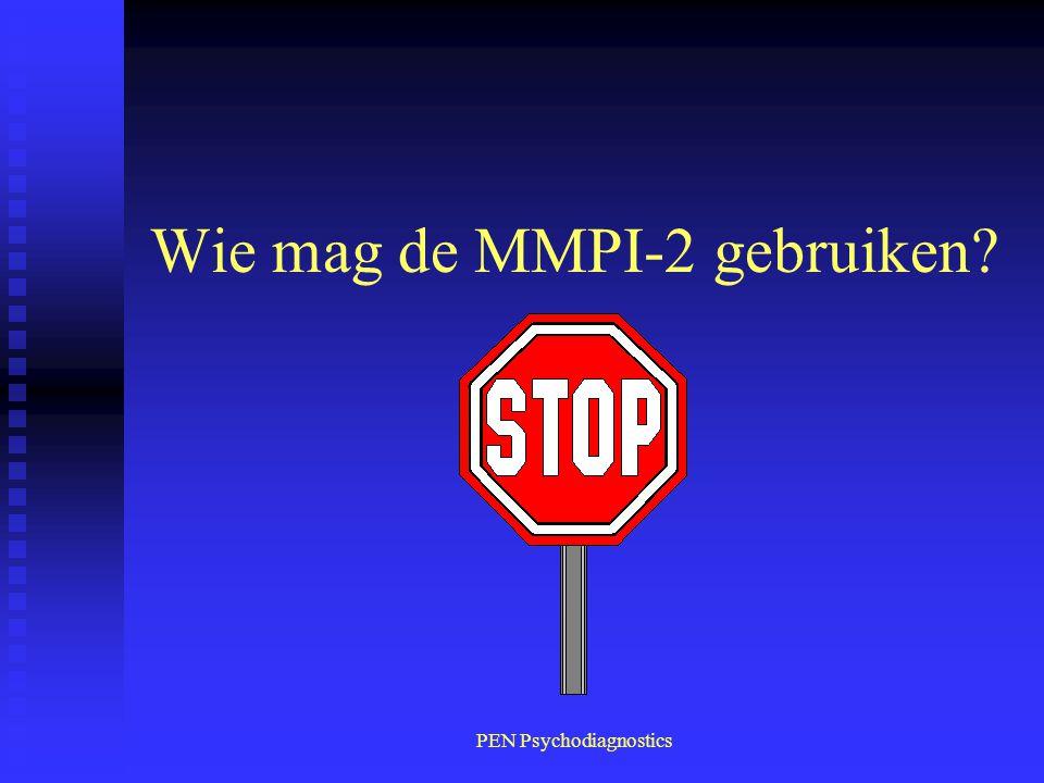 Wie mag de MMPI-2 gebruiken