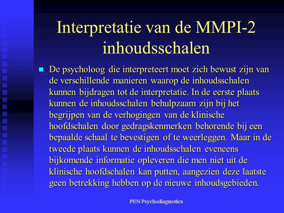 Interpretatie van de MMPI-2 inhoudsschalen