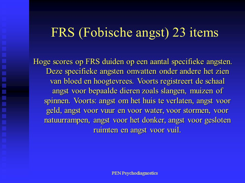 FRS (Fobische angst) 23 items