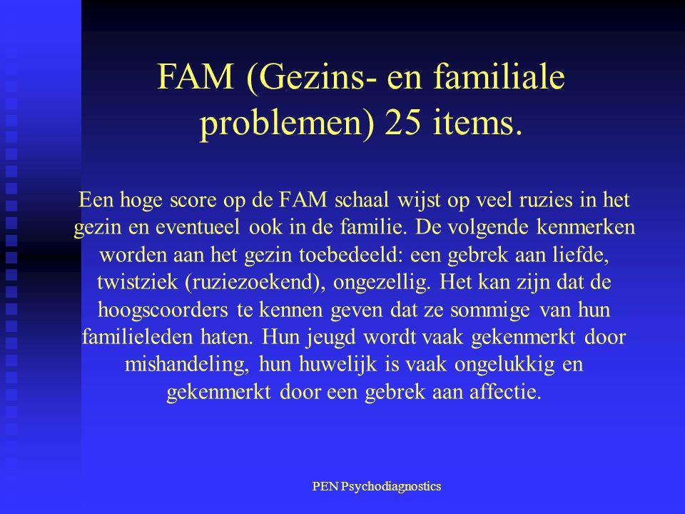 FAM (Gezins- en familiale problemen) 25 items.