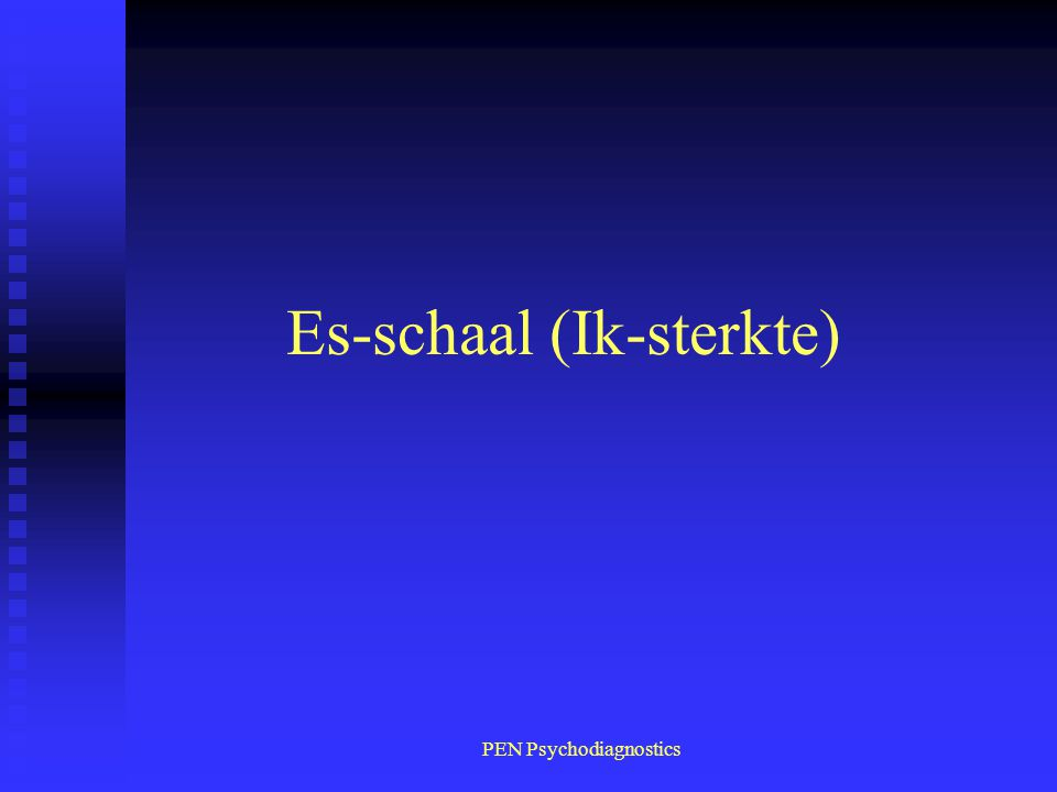 Es-schaal (Ik-sterkte)