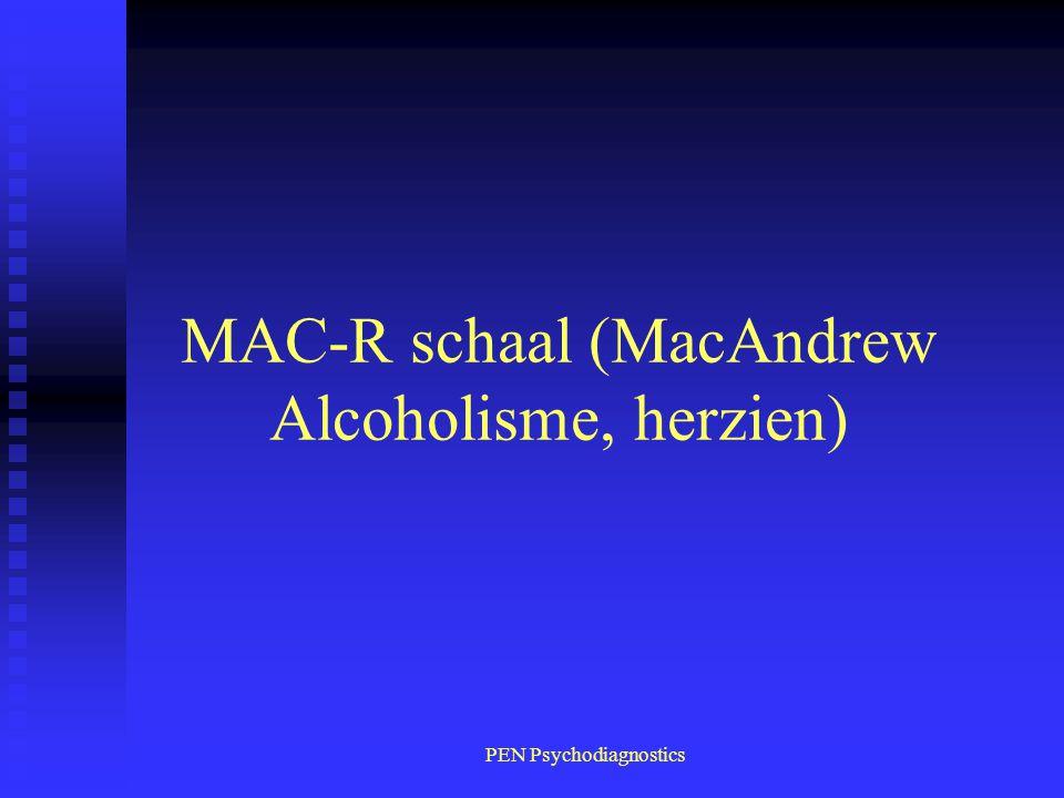 MAC-R schaal (MacAndrew Alcoholisme, herzien)