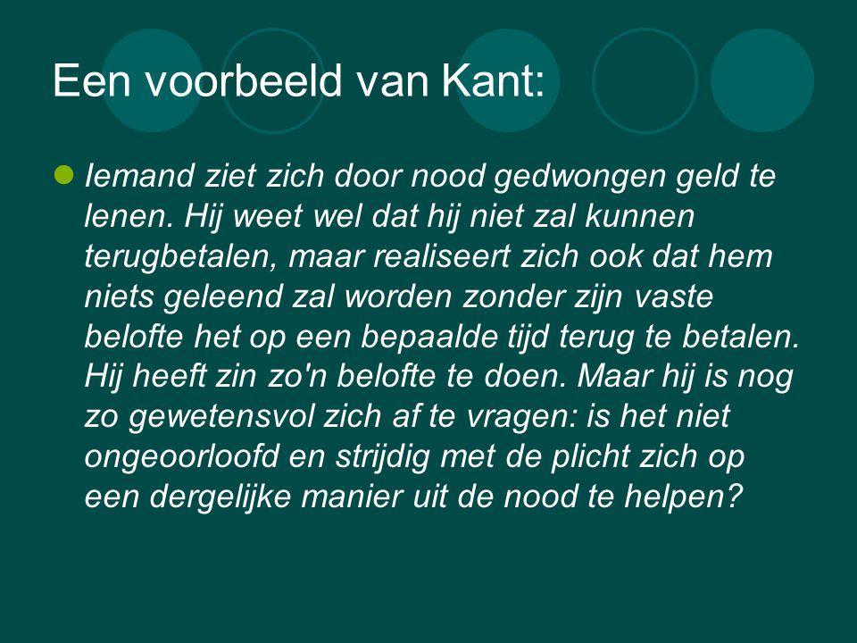 Een voorbeeld van Kant: