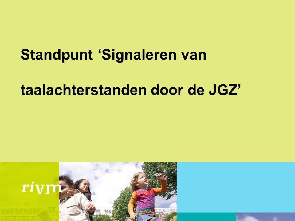 Standpunt 'Signaleren van taalachterstanden door de JGZ'