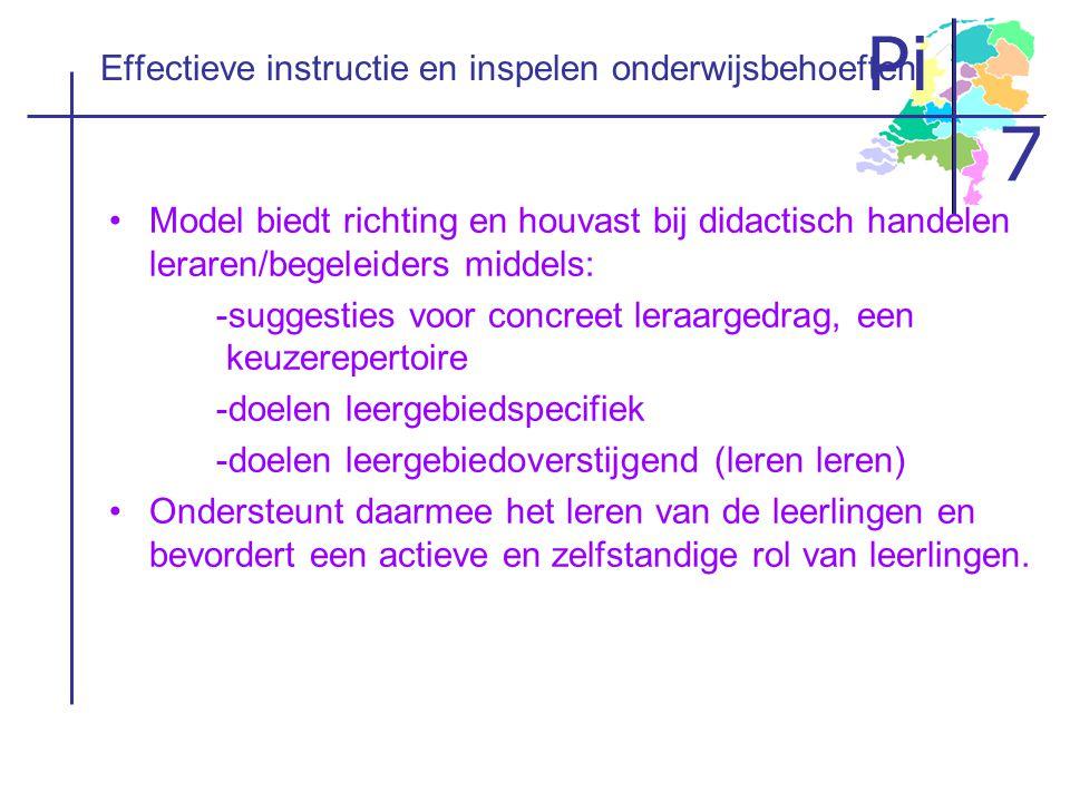 Effectieve instructie en inspelen onderwijsbehoeften