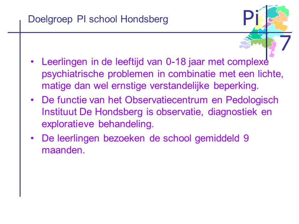 Doelgroep PI school Hondsberg