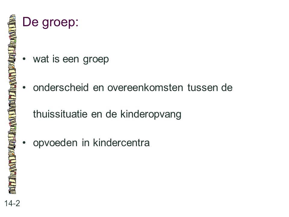 De groep: • wat is een groep
