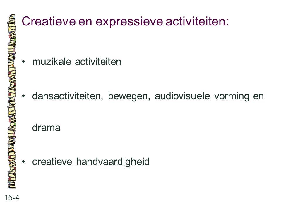 Creatieve en expressieve activiteiten: