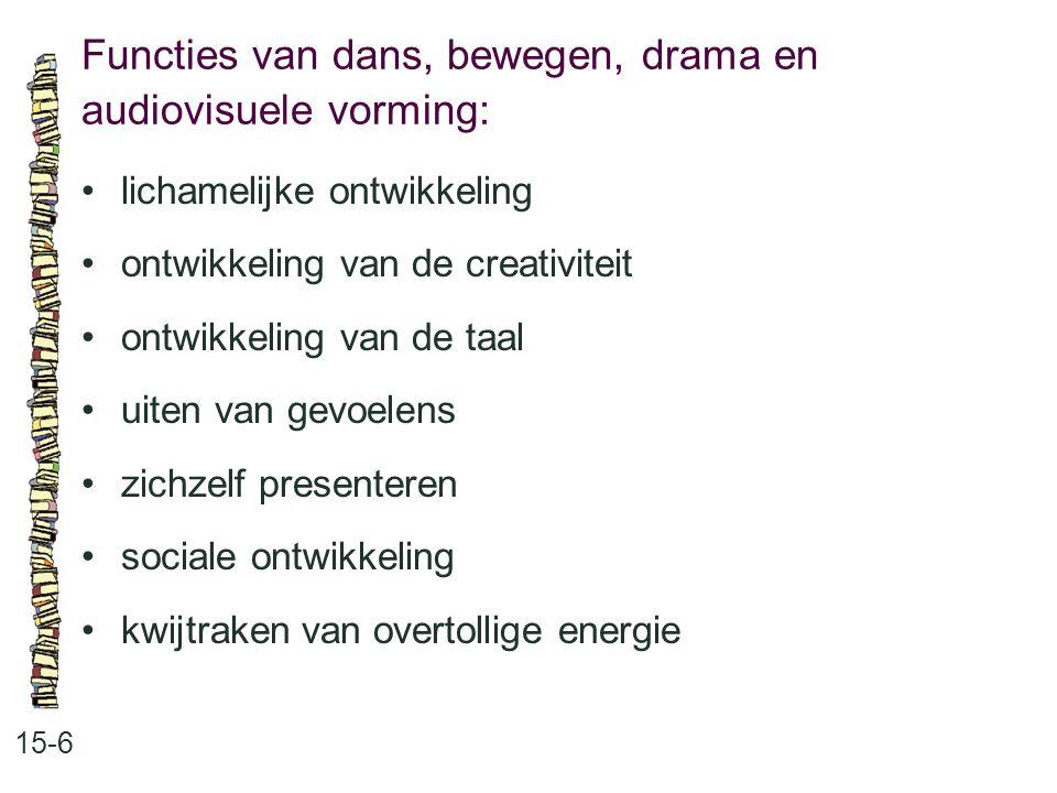 Functies van dans, bewegen, drama en audiovisuele vorming:
