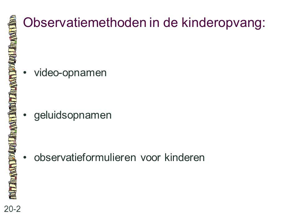 Observatiemethoden in de kinderopvang: