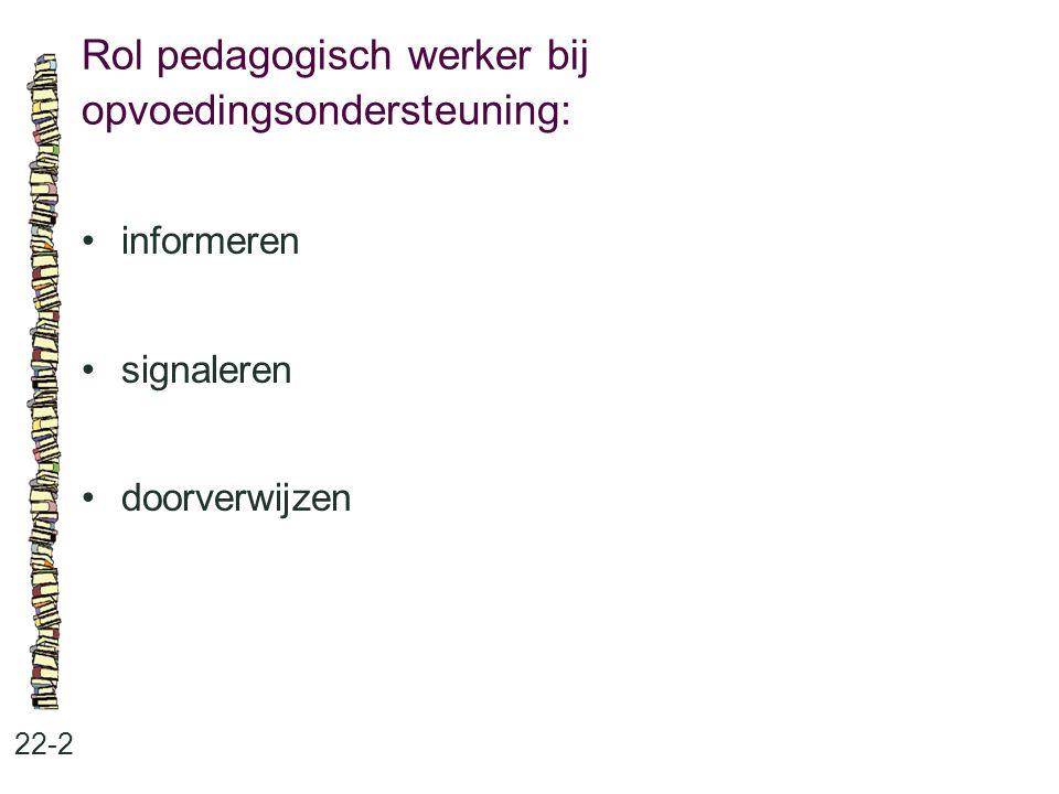 Rol pedagogisch werker bij opvoedingsondersteuning: