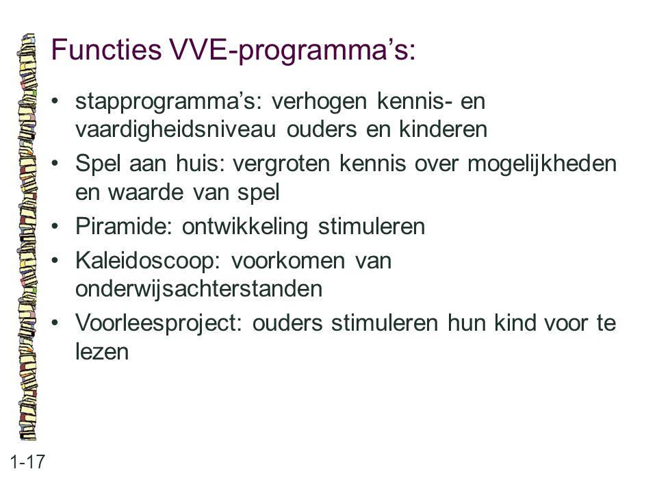 Functies VVE-programma's: