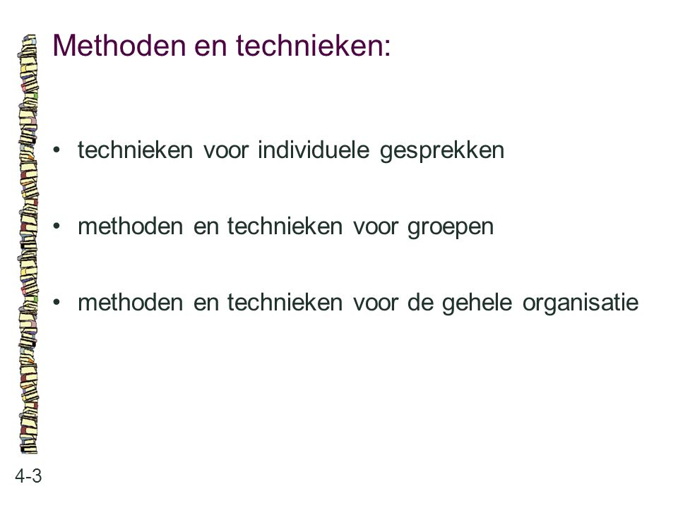 Methoden en technieken: