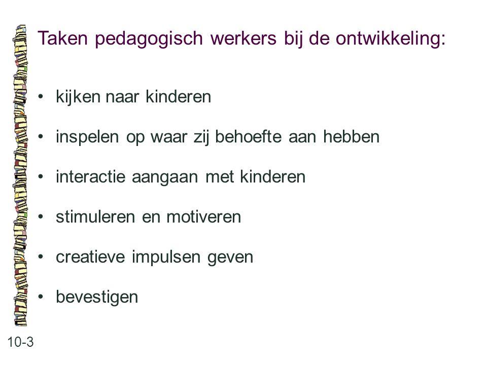 Taken pedagogisch werkers bij de ontwikkeling: