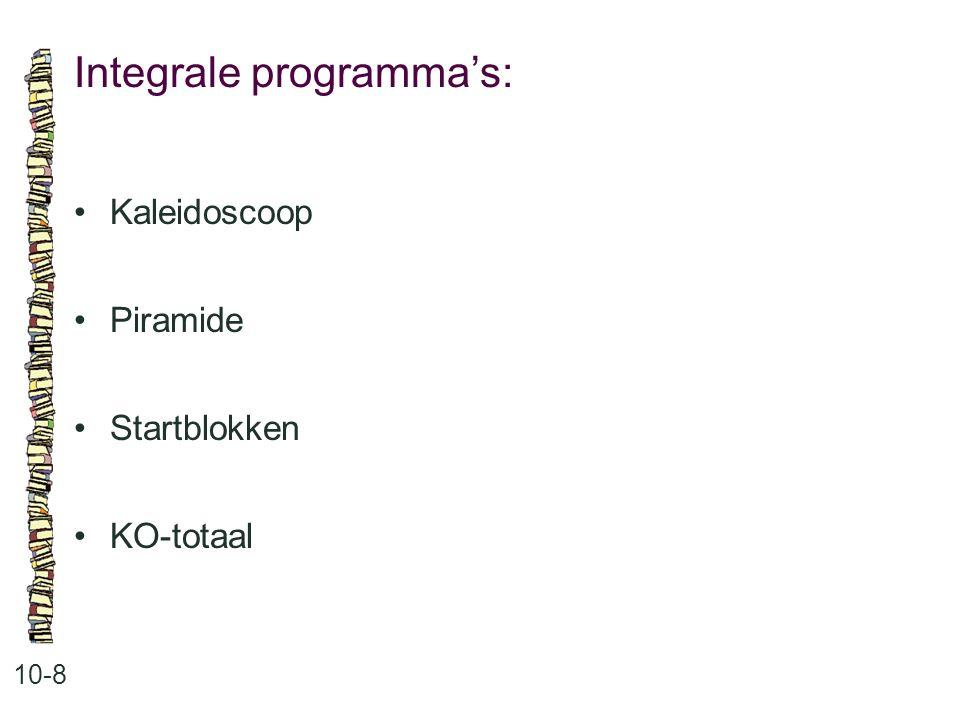 Integrale programma's:
