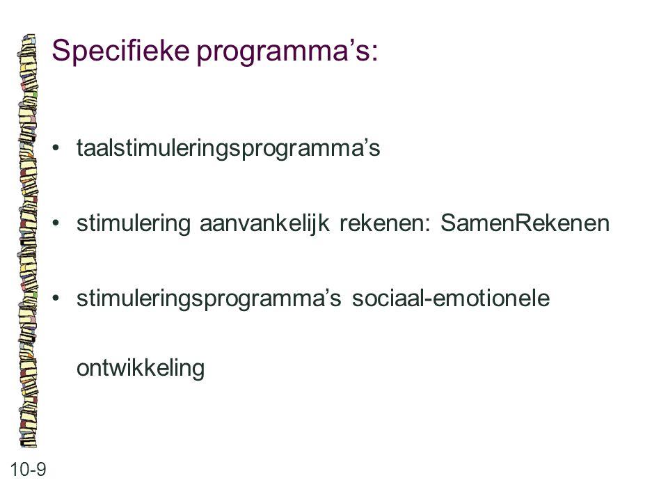 Specifieke programma's: