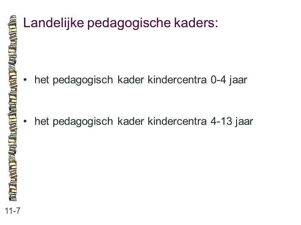 Landelijke pedagogische kaders: