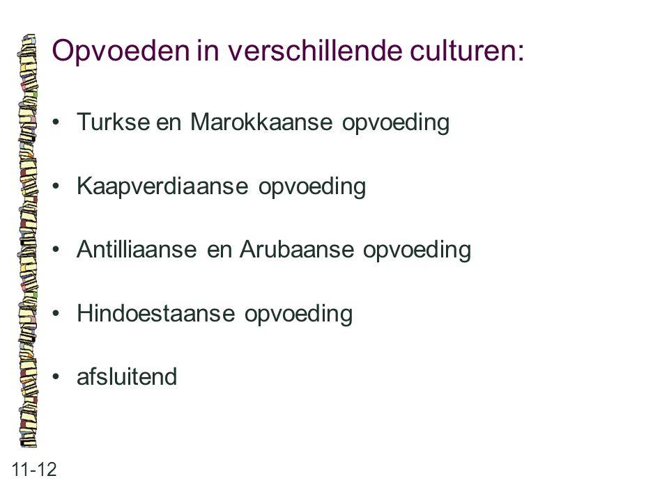 Opvoeden in verschillende culturen: