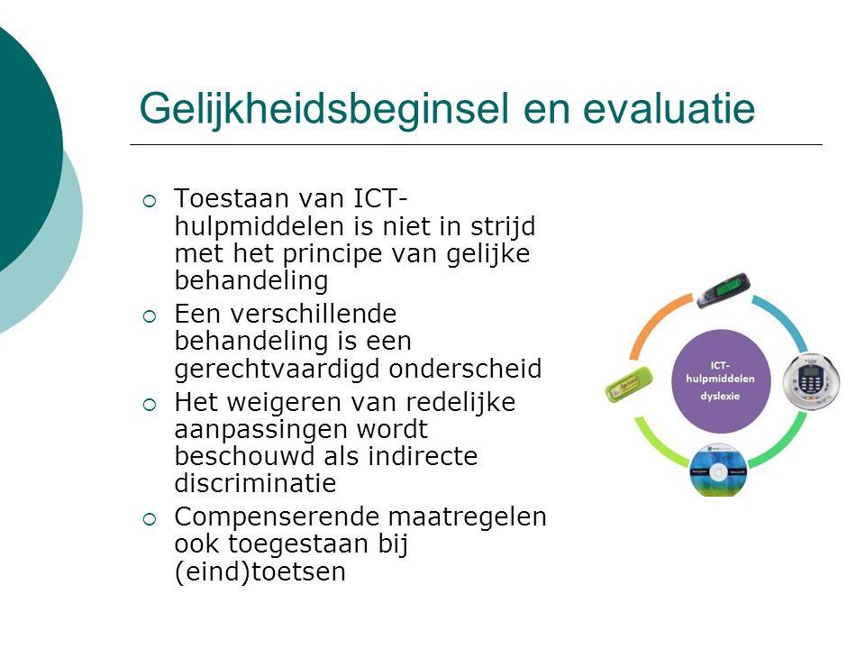 Gelijkheidsbeginsel en evaluatie