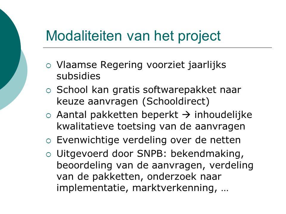 Modaliteiten van het project
