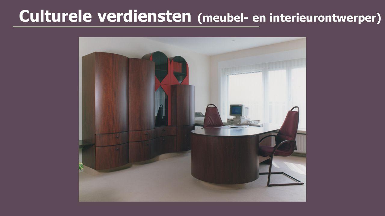 Culturele verdiensten (meubel- en interieurontwerper)