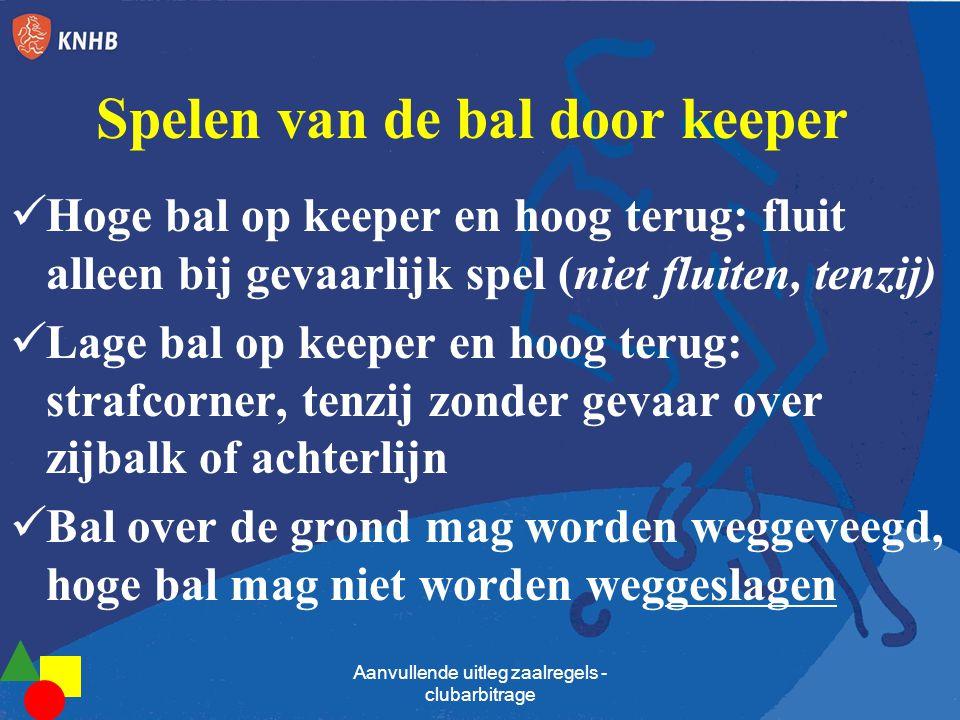 Spelen van de bal door keeper