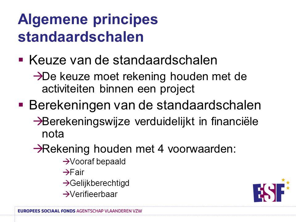 Algemene principes standaardschalen