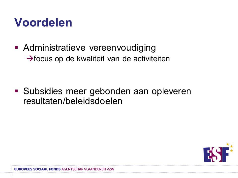 Voordelen Administratieve vereenvoudiging